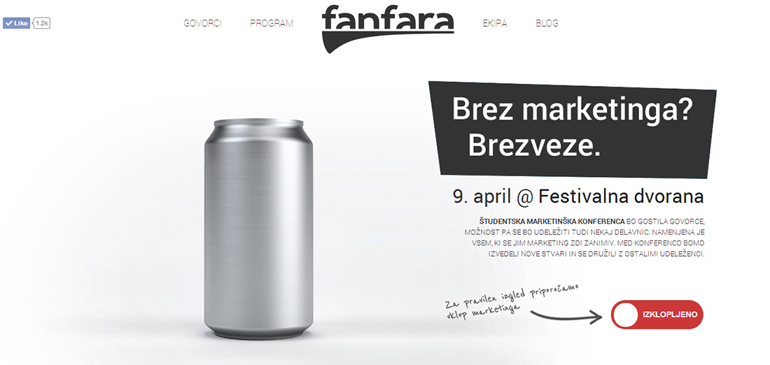 fanfara brez marketinga kampanja