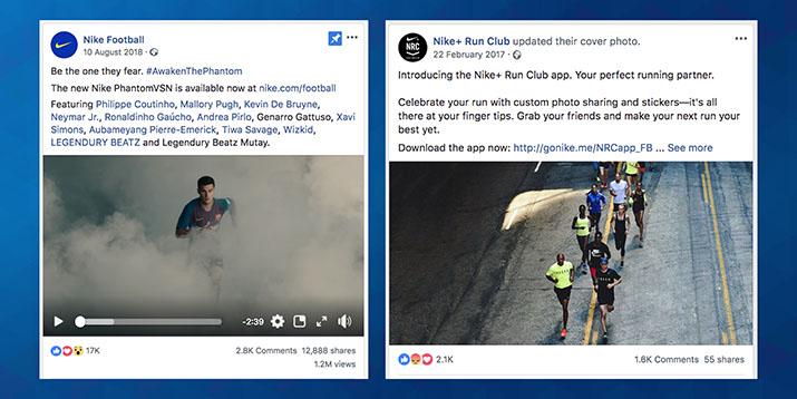 Kako Nike uporablja družbeno omrežje Facebook