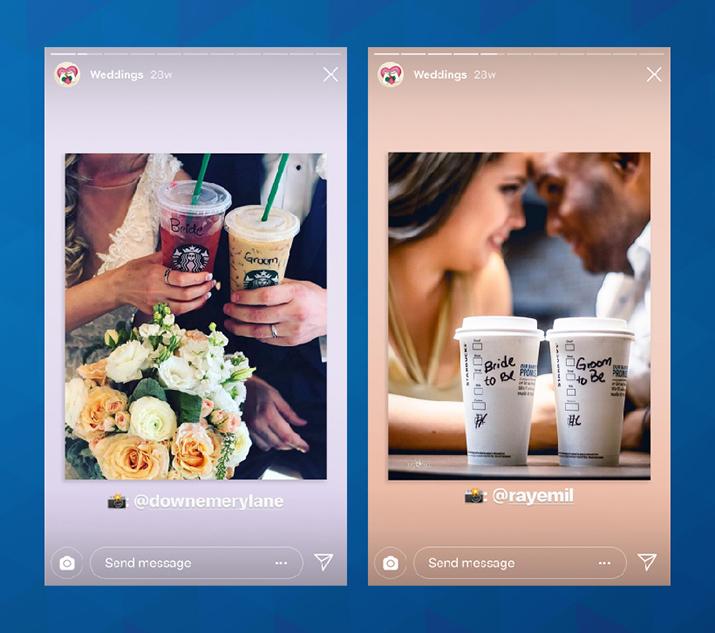 Starbucks v svojih highlightih deli objave svojih kupcev.