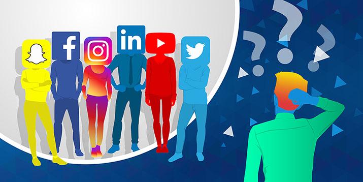 Izberi prava družbena omrežja
