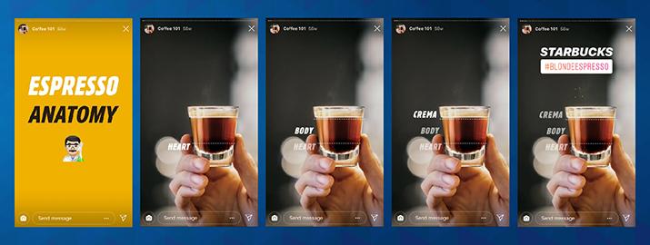 Takole je Starbucks preko Instagram Storyja predstavil nov produkt.