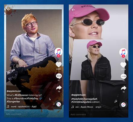 Apple Music vsebino na družbenem omrežju TikTok kreira s pomočjo znanih glasbenikov