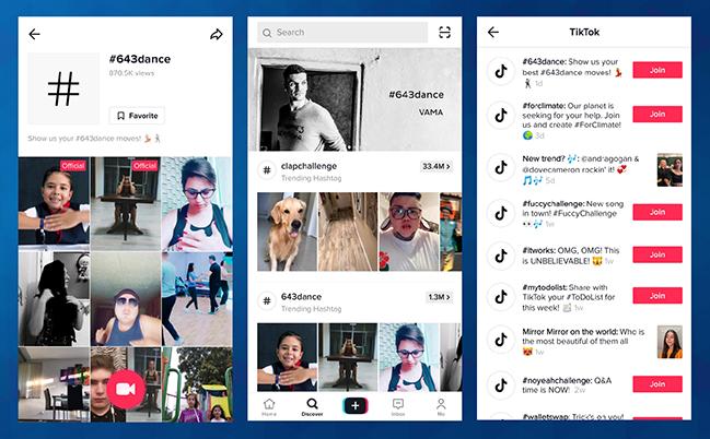 Izzivi na družbenem omrežju TikTok