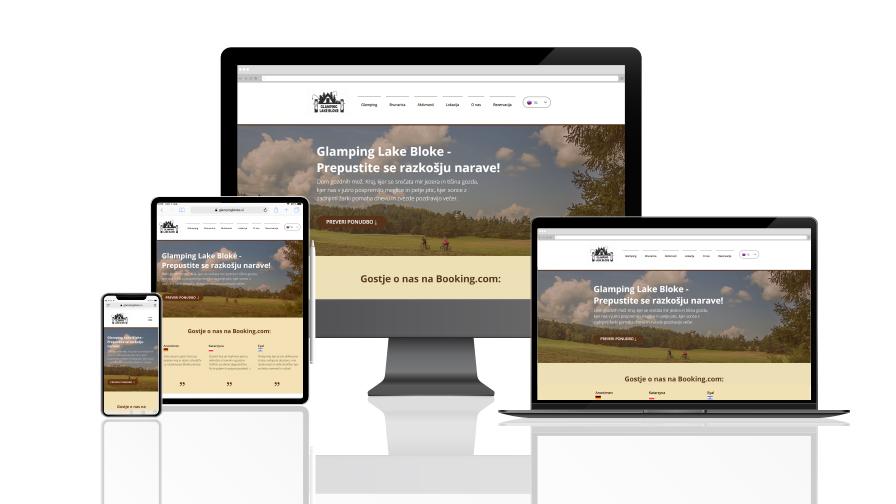 Nova spletna stran za narocnika s turisticno lokacijo