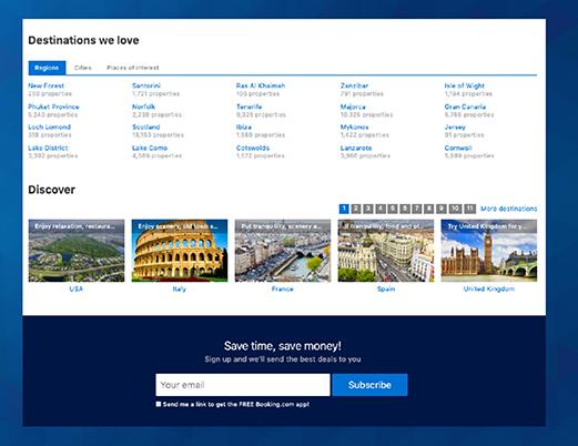 prijavni obrazec za bazo e-mail kontaktov na prvi strani