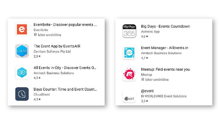 aplikacije dogodkov
