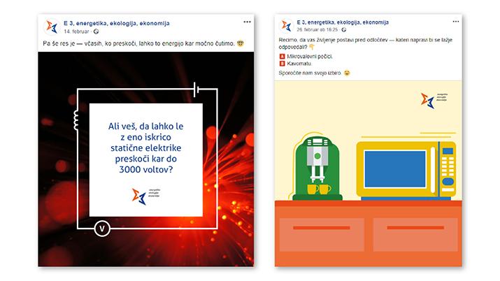 način komuniciranja na družbenih omrežjih primer E3
