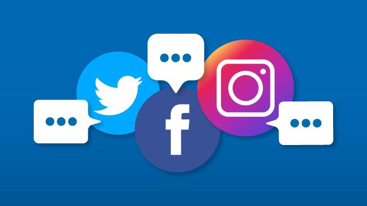 način komuniciranja na družbenih omrežjih twitter instagram facebook