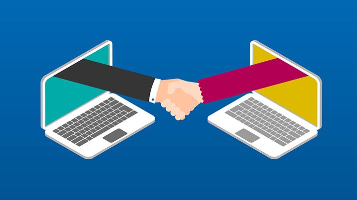 Spletna komunikacija, svetovanje in prodaja.