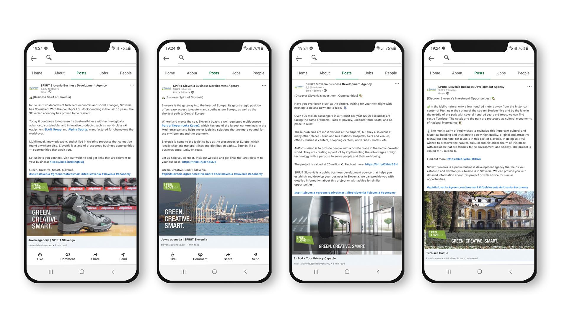 LinkedIn objave za SPIRIT Slovenija