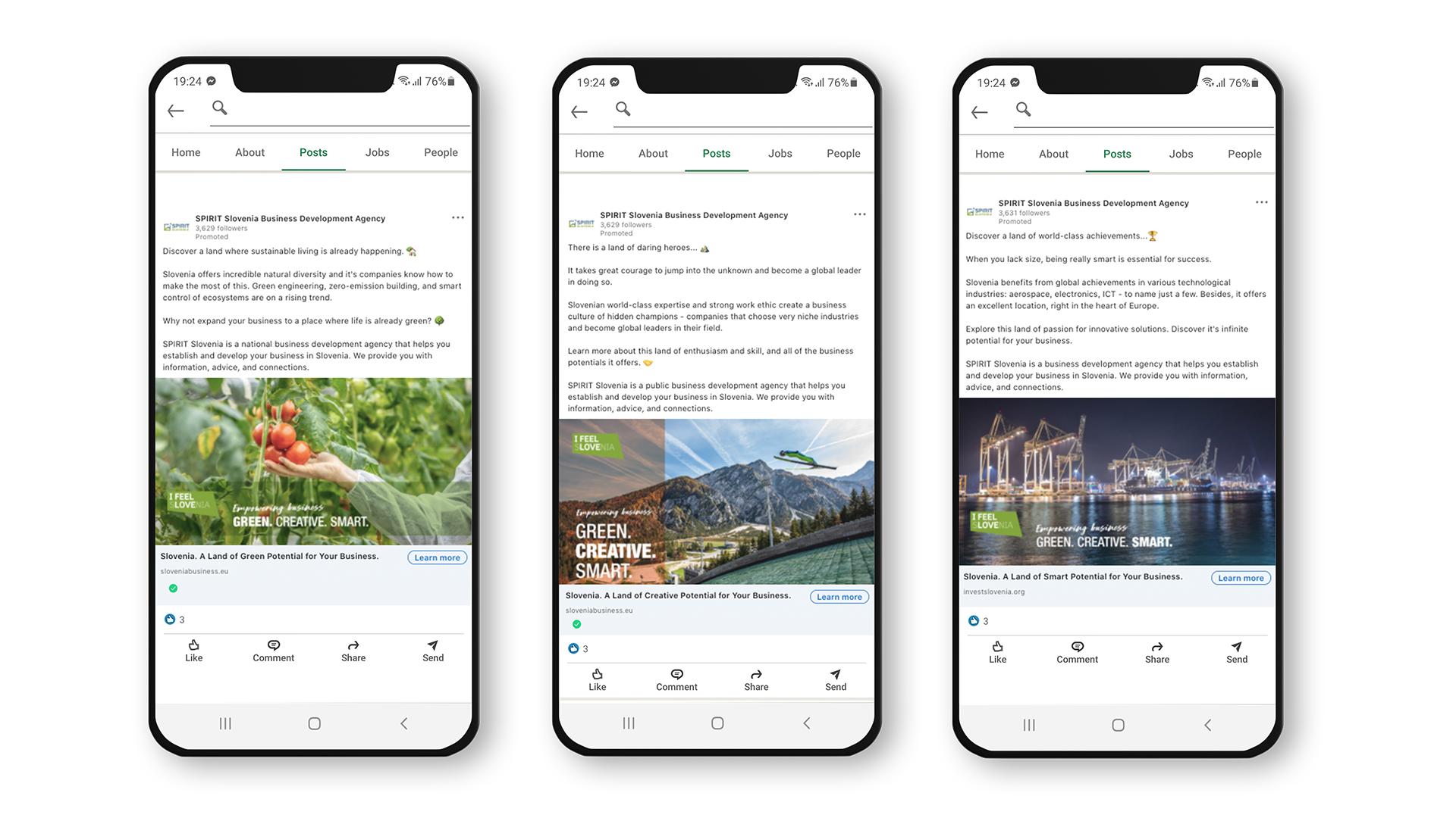 Green. Creative. Smart.: LinkedIn oglasi